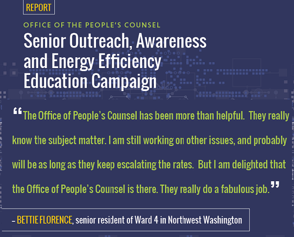 Senior Outreach, Awareness and Energy Efficiency Education Campaign
